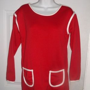 Tops - Red Tunic Sweater NWT